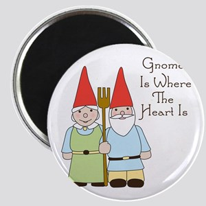 Gardening Gnome Couple Magnets