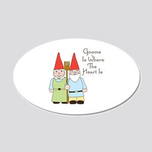 Gardening Gnome Couple Wall Decal