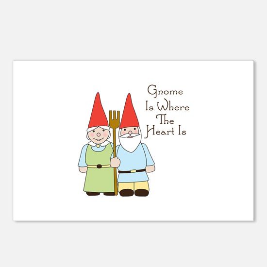 Gardening Gnome Couple Postcards (Package of 8)