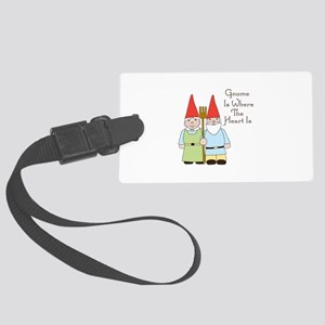 Gardening Gnome Couple Luggage Tag