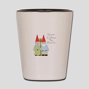 Gardening Gnome Couple Shot Glass