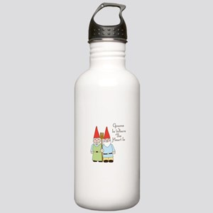 Gardening Gnome Couple Water Bottle