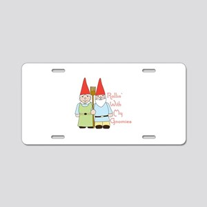 Rollin Gnomes Aluminum License Plate