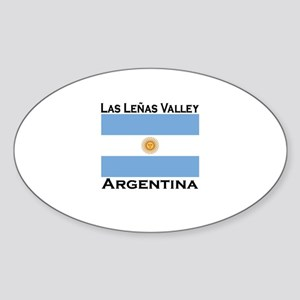 Las Lenas Valley, Argentina Oval Sticker