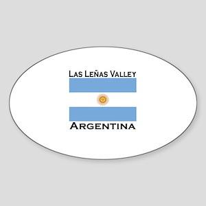 Las Lenas Valley, Argentina Oval Sticker