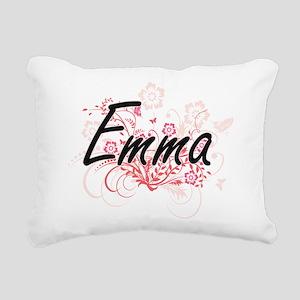 Emma Artistic Name Desig Rectangular Canvas Pillow