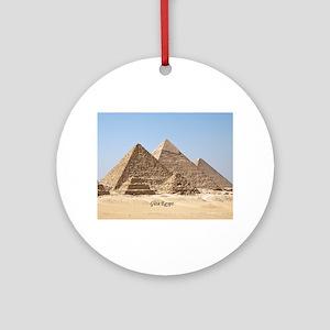 Pyramids at Giza Egypt Round Ornament