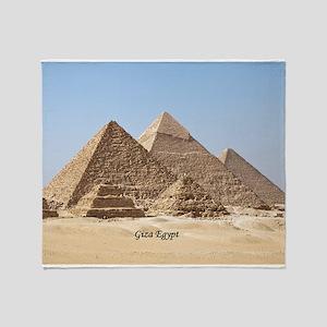 Pyramids at Giza Egypt Throw Blanket