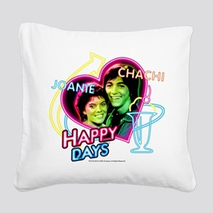 Joanie and Chachie Square Canvas Pillow