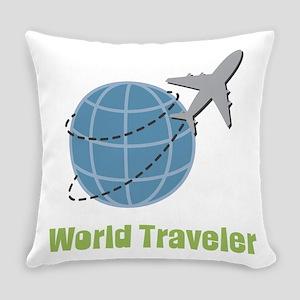 World Traveler Everyday Pillow