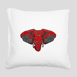 Crimson Tide Takeover Square Canvas Pillow