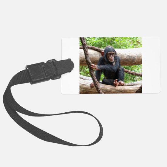 Cute Chimpanzee Luggage Tag