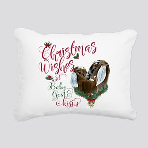 Christmas Goat | Christm Rectangular Canvas Pillow