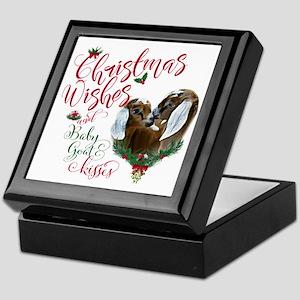 Christmas Goat   Christmas Wishes Bab Keepsake Box