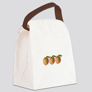 Row Of Peaches Canvas Lunch Bag