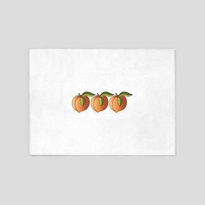 Row Of Peaches 5'x7'Area Rug