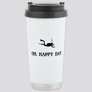 Oh Happy Day Scuba Diving Travel Mug