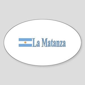 La Matanza, Argentina Oval Sticker