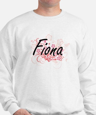 Fiona Artistic Name Design with Flowers Sweater