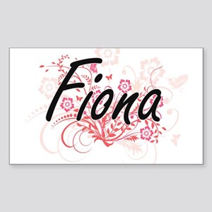 Fiona Artistic Name Design with Flowers Sticker