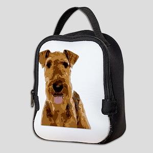 Vector Art Airedale Terrier Neoprene Lunch Bag