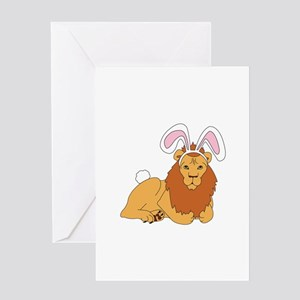 Lion Bunny Greeting Cards