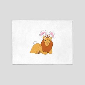 Lion Bunny 5'x7'Area Rug