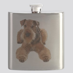Heavily Deconstructed Vector Airedale Terrie Flask