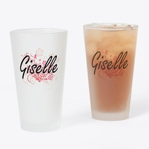 Giselle Artistic Name Design with F Drinking Glass
