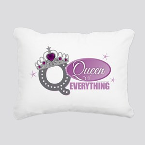 Queen Everything Orchid Rectangular Canvas Pillow