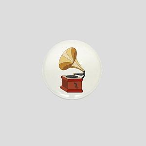 Vintage Phonograph Mini Button