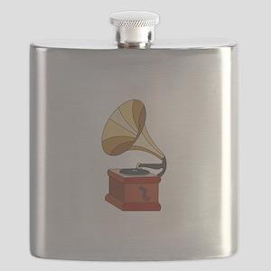 Vintage Phonograph Flask