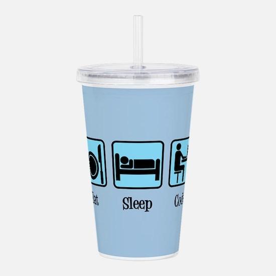 Eat Sleep Code Acrylic Double-wall Tumbler
