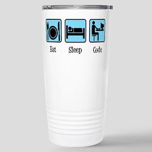 Eat Sleep Code 16 oz Stainless Steel Travel Mug