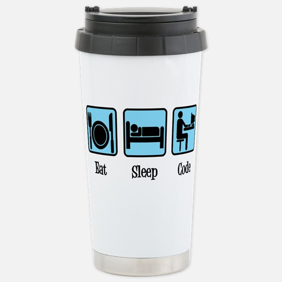 Eat Sleep Code Travel Mug