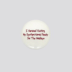 Holiday Survivor Mini Button