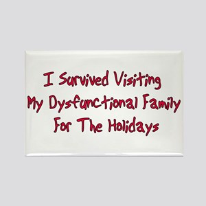 Holiday Survivor Rectangle Magnet