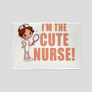 I'm The Cute Nurse Magnets