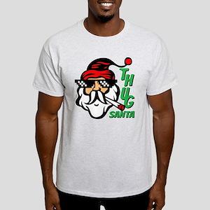 Thug Santa Claus Life Light T-Shirt