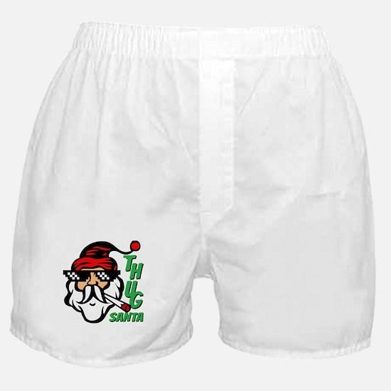 Thug Santa Claus Life Boxer Shorts