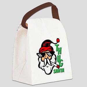 Thug Santa Claus Life Canvas Lunch Bag
