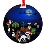 All The Animals Gathered Around Ornament