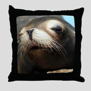 CUTE SEA LION Throw Pillow