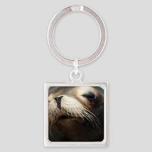CUTE SEA LION Square Keychain