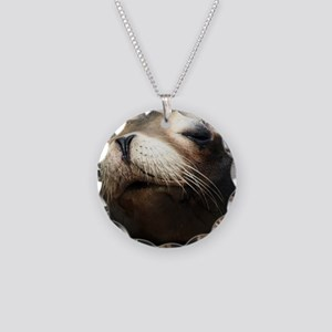 CUTE SEA LION Necklace Circle Charm
