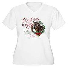 Christmas Goat | Women's Plus Size V-Neck T-Shirt