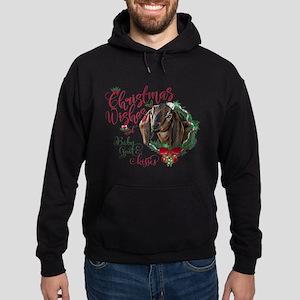 Christmas Goat | Christmas Wishes Ba Hoodie (dark)