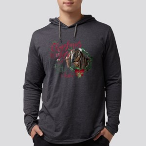 Christmas Goat | Christmas Wishe Mens Hooded Shirt