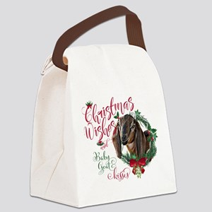 Christmas Goat | Christmas Wishes Canvas Lunch Bag