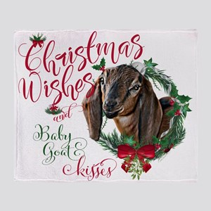 Christmas Goat | Christmas Wishes Ba Throw Blanket